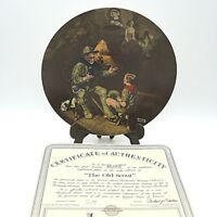 """Sammelteller USA Bradex Listung Edwin Knowles by Norman Rockwell """"The Old Scout"""""""