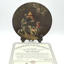 "Sammelteller USA Bradex Listung Edwin Knowles by Norman Rockwell ""The Old Scout"""