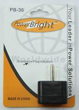 Power Bright PB36 Euro to US Plug Adapter