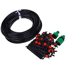 25m Drip Bewässerungssystem System Kit 30 Dripper Sprinkler Gartenpflanze HOT