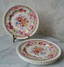 """Johnson Brothers WINCHESTER PINK (ROPE EDGE)  - SET of 4 Bread Dessert PLATES 6"""""""