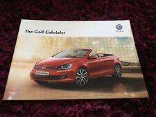 VW Golf Cabriolet Brochure 2015 -  Dec 2014 UK Issue