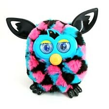 2012 Furby Boom Pink Blue Black Triangles Electronic Interactive Toy WORKS