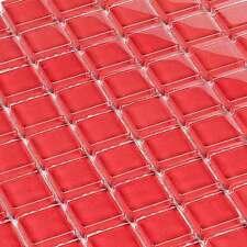 mosaïque céramique carrelage cristal rouge 8 mm