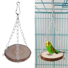 Parrot Swing Toys Bird Perch Hamster Squirrel Wood Hanging Cage Chain Decoration