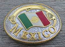 Mexico Mexican Flag Belt Buckle