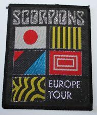 Scorpions, Europe Tour, Vintage Patch, rar, rare