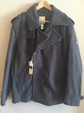 Diesel Wittor Double-Breasted Trim-Fit Peacoat Charcoal Sz XXL NWT $320