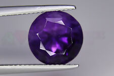 Amethyst Natural Gemstone  5.40ct Round cut 10mm Loose Big Best Colour