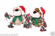Petface Christmas Jungle Character Dog Toy Leopard or Tiger Xmas Puppy Dog Toy