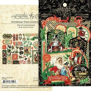 Graphic 45 - CHRISTMAS TIME - Die-cut Assortment