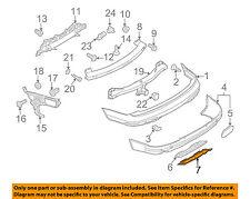 AUDI OEM 07-09 Q7 Rear Bumper-Cover 4L0807819B41