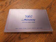 1967 MERCURY MARQUIS MONTEREY MONTCLAIR COLONY PARK ORIGINAL OWNERS MANUAL