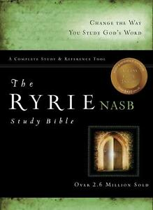 Ryrie Study Bible-NASB: Bonded Leather Burgundy Red Letter by Charles C. Ryrie (