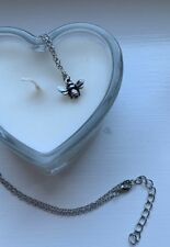 Bumblebee Bee Necklace Silver Colour Pendant Jewellery - UK Seller