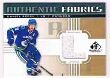 2011-12 SP GAME USED FABRICS DANIEL SEDIN JERSEY 1 COLOR VANCOUVER CANUCKS