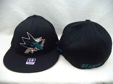 SAN JOSE SHARKS REEBOK FLAT BRIM ADULT S/M FLEX FIT CAP HAT NEW WITH TAGS