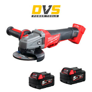 Milwaukee M18CAG115XPDB-0 M18 Fuel Brushless Angle Grinder with 2x 5Ah Batteries