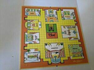 Vintage 1960 CLUE Game Board Parker Brothers Excellent Condition