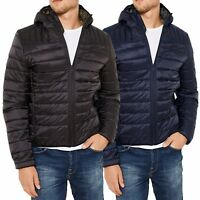 Mens Padded Bubble Puffer Quilted Hooded Jacket Coat Warm Winter Fashion DIESEL