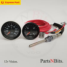 VDO 12v PYROMETER PYRO EGT GAUGE KIT AND 30 PSI BOOST GAUGE