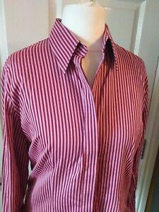 Womens Charles Tyrwhitt Pink Striped Shirt in a UK 12