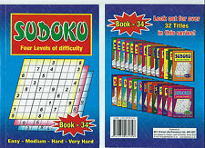 SUDOKU BOOK 110+ PUZZLES A5 SIZE BOOK BRAND 4 LEVELS OF DIFFICULTY BOOK 34