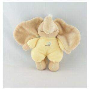 Doudou Eléphant Archibald salopette jaune NOUKIE'S 13 cm - Eléphant Mini doudou