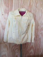 Women's yellow solid Studio Works cardigan/jacket/windbreaker,  size 2X