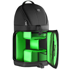 Neewer Waterproof Camera Case Sling Backpack for Nikon Canon Sony Green Interior