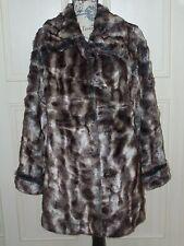 """NEW QVC DENNIS BASSO Faux Fur Coat  Size X Large  52"""" Chest"""