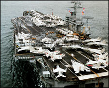 Aircraft Carrier USS Nimitz CVN-68 Near Norfolk 1981 8x10 Photos