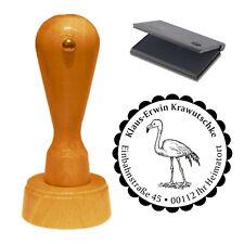 Stempel « süßer FLAMINGO » Adressenstempel Motiv Name Adresse rosa Vogel Zoo