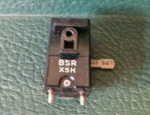 BSR X5H HIGH OUTPUT CARTRIDGE + STYLUS (WORKING) FOR VINTAGE RECORD PLAYER (A2)