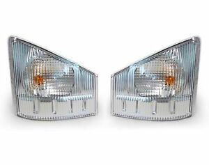 GMC W3500 W4500 W5500 2008-2015 PAIR SET TRUCK TURN SIGNAL LIGHTS LAMPS CORNER