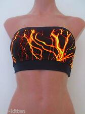 Schminke: UV Bra top boobtube neon lightning Lycra fluorescent bandeau crop tube