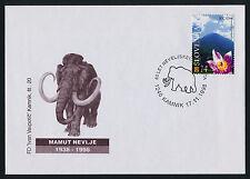 Slovenia 326 on Cover - Flowers, Mammoth cancel