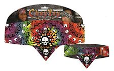 Chop Top Tie Dye Skulls w/Studs Biker Clubbing Casual Head Wrap Bandana Do Rag