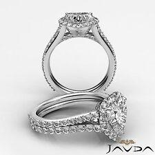 2.29 ct Heart Shape Diamond Engagement Halo Solid Ring 14K White Gold H VS2 GIA