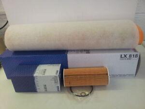 BMW E60 E61 530D 2993cc Oil Air Filter Service Kit  MAHLE OX177/3D LX818 2003-10
