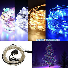 10-30M 12V Mains Plug-in LED Copper Wire String Fairy Lights Party Xmas Wedding