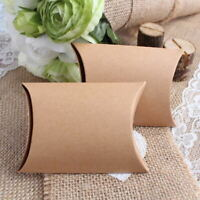 100x Wedding Favour Kraft Paper Pillow Candy Box Sweet Treat Gift Boxes & Bags