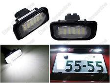2pcs White LED License Plate Light Benz W203 Sedan C230 C240 C280 C320 C32 C55