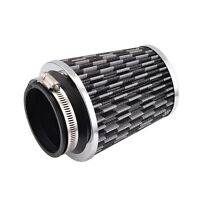 """Car Auto Modified High Flow 76mm 3"""" Inlet Cone Air Intake Filter Cleaner Gray"""