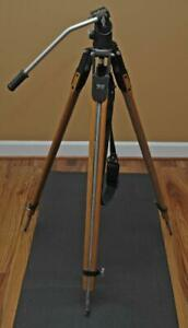 Vintage Wood Camera Tripod Universal - Fluid Head