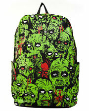 Banned Black Green Zombie Army Backpack Bag Psychobilly Horror Punk Goth Rock