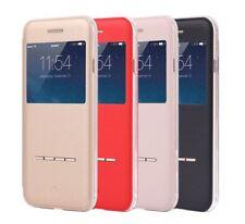 Rose Gold iPhone 6s Plus Case PU Leather Slider Answer Windows Flip Cover YA9C
