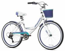 Girls Cruiser Bike Bicycle Step Through Custom Frame Fender Basket Beach Child