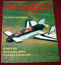 Aeroplane Monthly Magazine 1974 May Imperial Airways,VariViggen,B-29 Washington