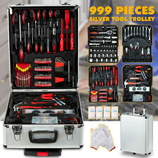 999 pcs Tool Set Standard Metric Mechanics Kit Case Box Organize Castors Trolley